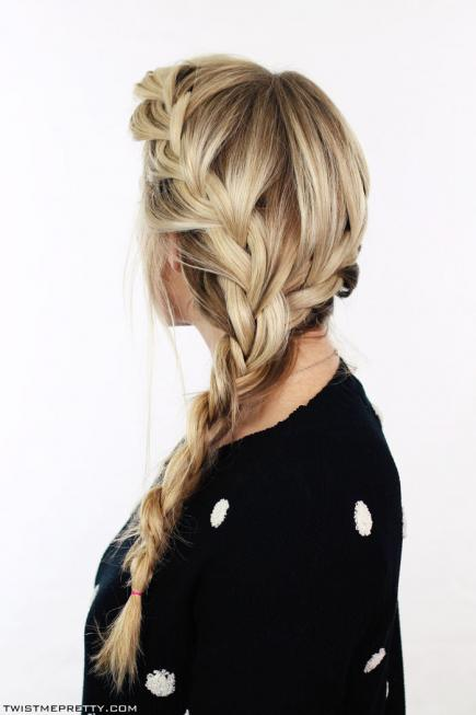 How-to-Make-French-Braid-Hairstyle-Tutorial-Both-Side-French-Braid