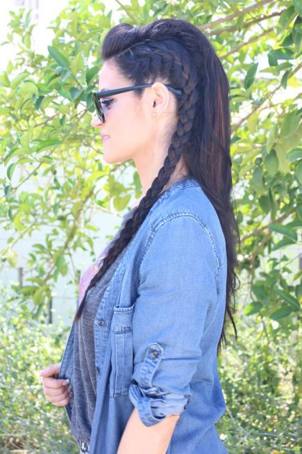 How-to-Make-French-Braid-Hairstyle-Tutorial-French-Braid-Faux-Hawk