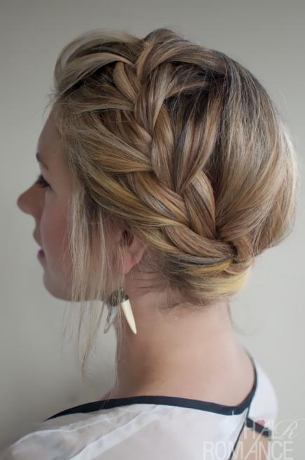 How-to-Make-French-Braid-Hairstyle-Tutorial-French-Crown-Braid