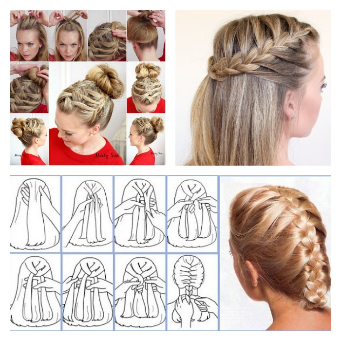 16 Stylish French Braid Hairstyle Tutorials | BeesDIY.com