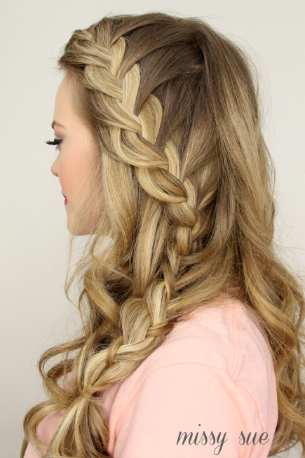 How-to-Make-French-Braid-Hairstyle-Tutorial-half-up-side-french-braid