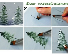 How to Brush Paint Christmas Tree