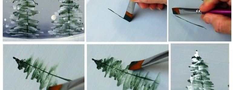 How to Paint Christmas Tree (VIDEO)