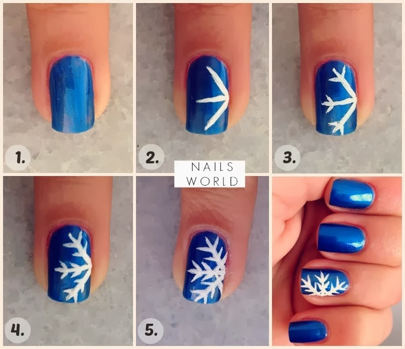 Winter-snowflake-Nail-Art