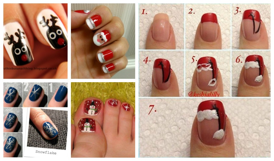 Christmas nail art design-beesdiy