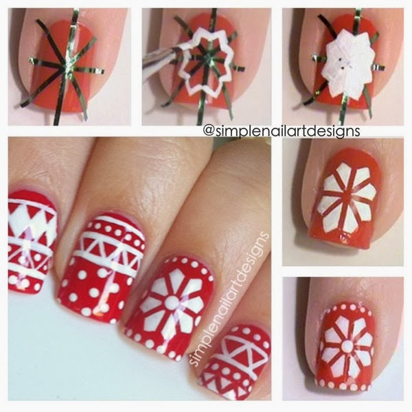 holiday-snowflake-Nail-Art