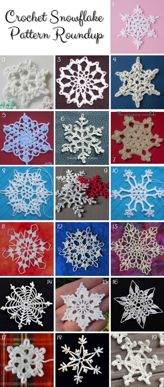 19 Crochet Snowflake Free Patterns.