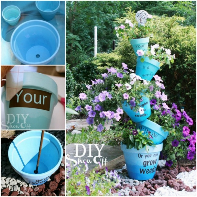 25 clay pot diy projects to beautify your garden beesdiy 20 amazing clay pot diy projects for your garden3 solutioingenieria Choice Image