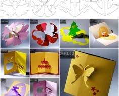 Make 3D Kirigami DIY Greeting Cards with Templates