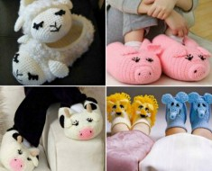 Cute Crochet & Knit Animal Slippers