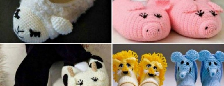 7 Cutest Animal Slippers Patterns ( FREE )