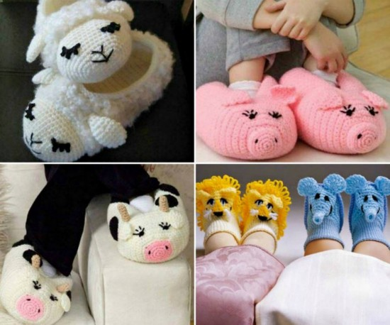 7 Cutest Animal Slippers Patterns Free Beesdiy
