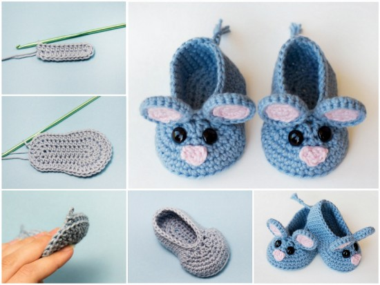 d353af56c3c6 Craftideas- Crocheted animal booties FREE PATTERN Cute Crochet   Knit  Animal Slippers