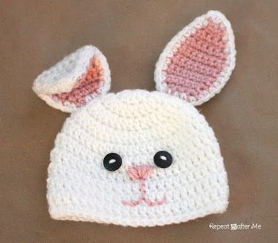 Adorable Crochet Bunny Hats (FREE Pattern )