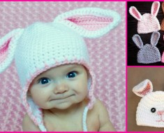 Adorable Crochet Bunny Hat Patterns (FREE)
