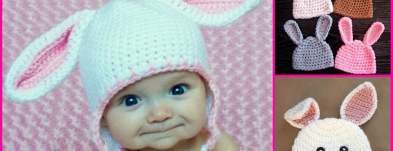 Crochet Bunny Hats (FREE Patterns )