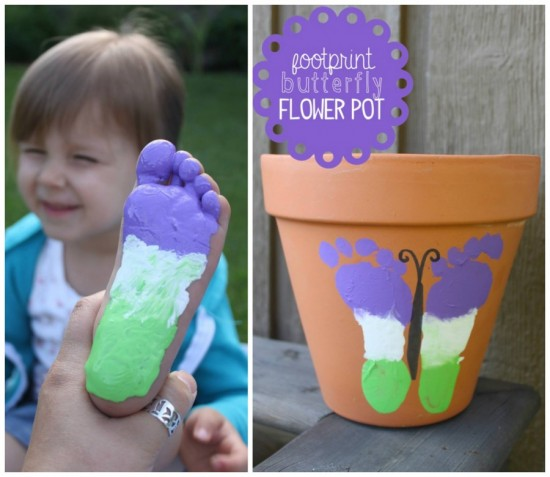 DIY Butterfly-Footprint-Flower-Pot