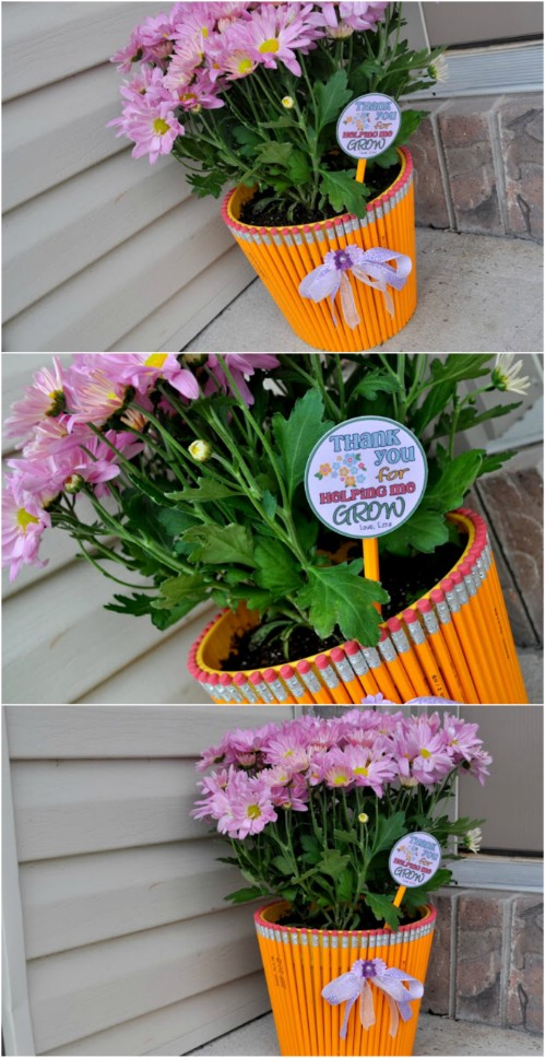 DIY CLAY POT pencil planter