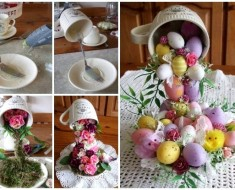 DIY Easter Egg Flying Cup Topiary