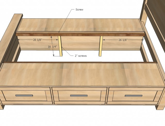 diy storage bed with storage drawers
