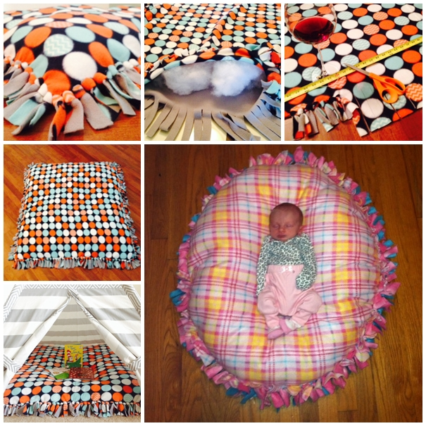 DIY No Sew Floor Pillow