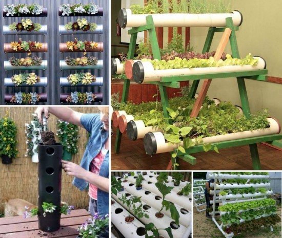 Home Gardening Design Ideas: DIY PVC Gardening Ideas And Projects