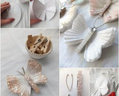 DIY Pretty Cupcake Liner Butterfly