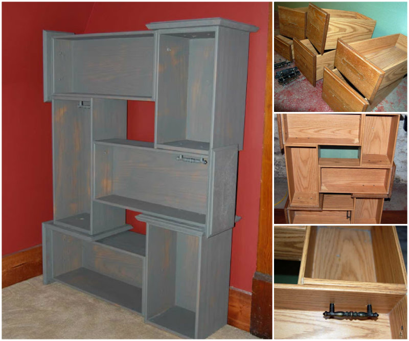how to make a shelf out of a dresser 3