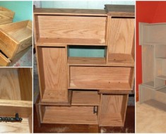DIY Recycled Drawer Shelf
