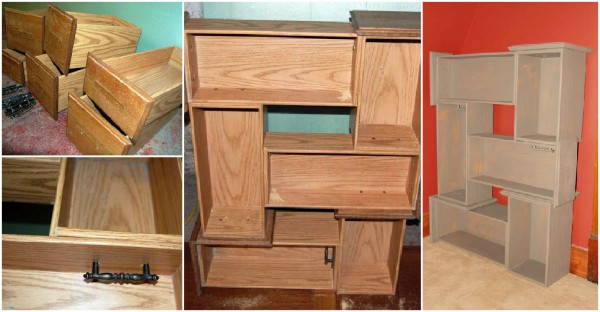Make Recycled Diy Drawer Shelves Beesdiy Com