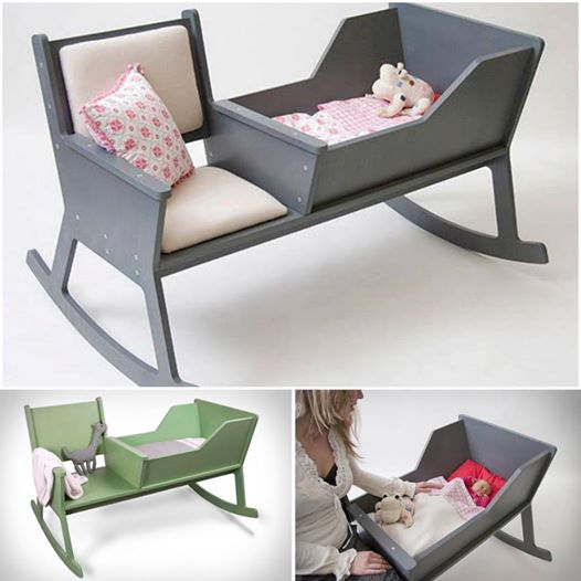 DIY Rocking Chair Cradle Combo