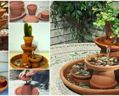 DIY Terracotta Pot Water Fountain
