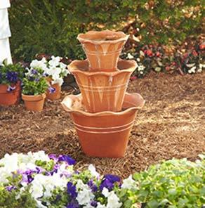 Diy terracotta pot water fountain for How to make a water fountain