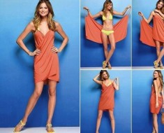 DIY Victoria's Secret Style Swimsuit Cover-Up (No Sewing)