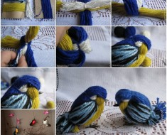 CUTE DIY Yarn Birdie