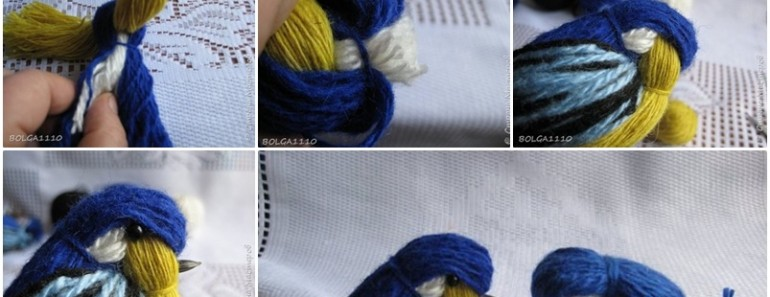 How to Make Cute DIY Yarn Birdie
