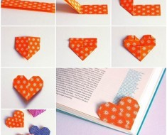 DIY cute origami heart shaped page maker