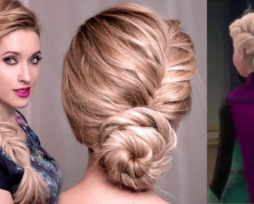 Disney Frozen Elsa Hairstyle Updo Tutorial (Video)