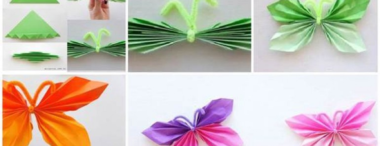 Easy Folded DIY Paper Butterfly