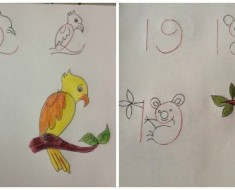 Fun Kids Drawing With Number As a Base