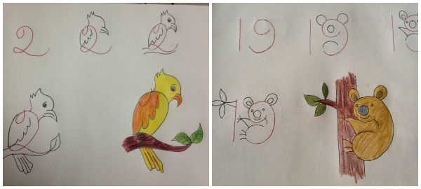 10 Fun Kids Drawings With Number As a Base