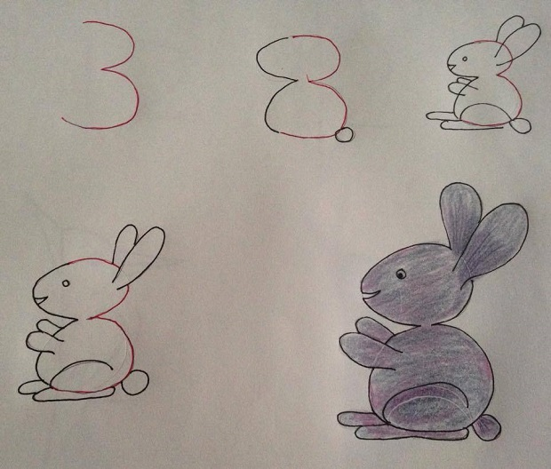 Fun Kids Drawing With Number As a Base2