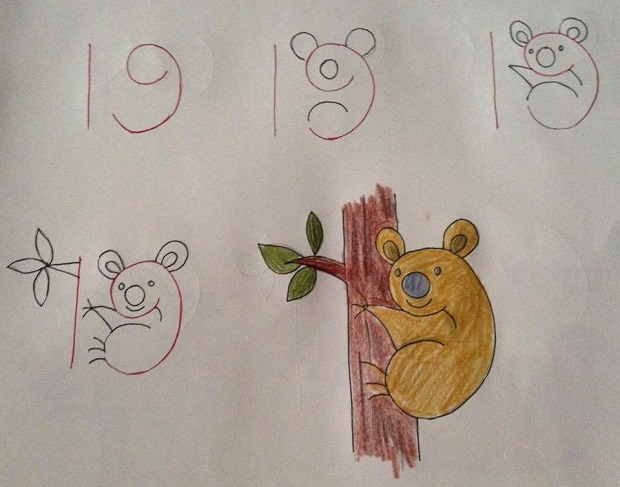 Fun Kids Drawing With Number As a Base4