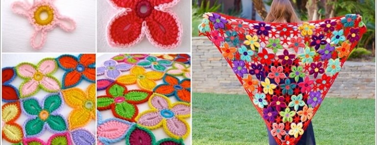 Crochet Hawaii Flower FREE Pattern