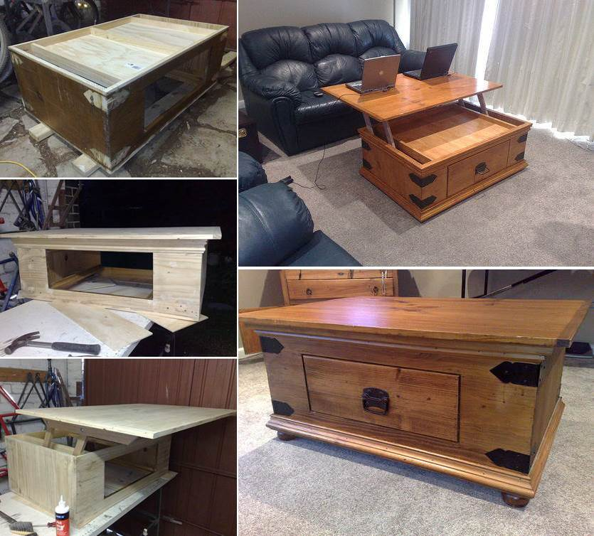 How to DIY Lift Top Coffee Table