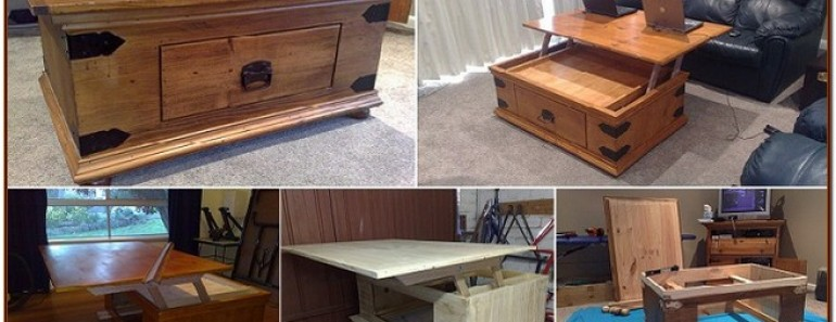 How To Diy Lift Top Coffee Table Beesdiy Com
