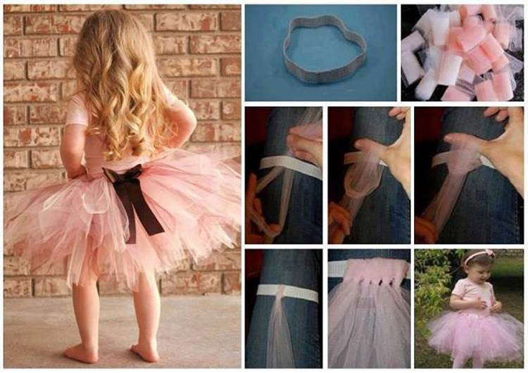 How to Make Easy DIY No Sew Tutu for Little Girls