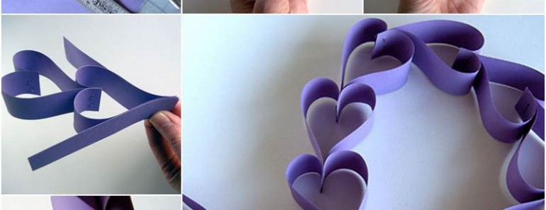 How to Make Valentine DIY Paper Heart Chain