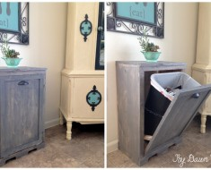 How to Make Wood Tilt DIY Trash Can Cabinet