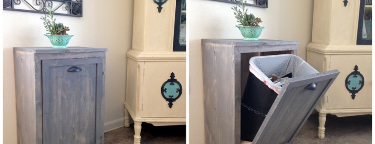How to Make Wood Tilt Out DIY Trash Can Cabinet